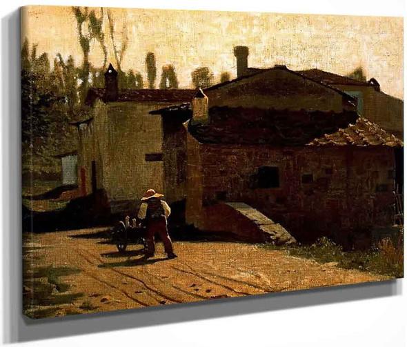 The Milkman In Piagentina By Giuseppe Abbati By Giuseppe Abbati
