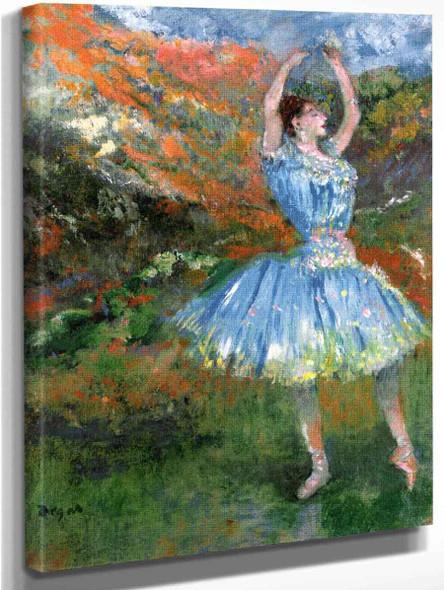 Blue Dancer, At The Ballet By Edgar Degas