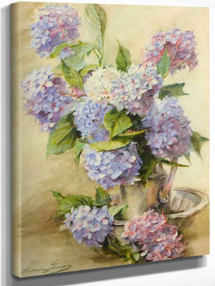 Blue Hortensias By Madeleine Jeanne Lemaire