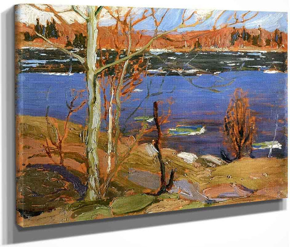 The Opening Of The Rivers Sketch For Spring Ice By Tom Thomson