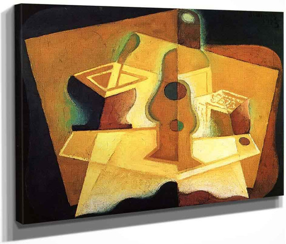 The Packet Of Tobacco2 By Juan Gris