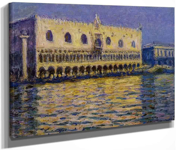 The Palazzo Ducale By Claude Oscar Monet