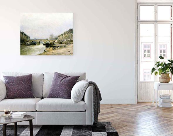 The Pont Marie By Stanislas Lepine