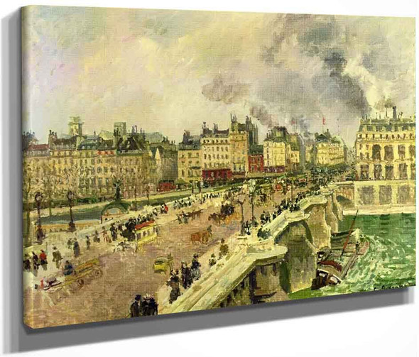 The Pont Neuf, Shipwreck Of The Bonne Mere By Camille Pissarro By Camille Pissarro