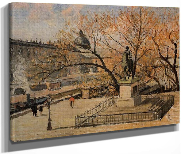The Pont Neuf By Camille Pissarro By Camille Pissarro