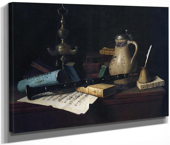 The Professor's Old Friends By William Michael Harnett  By William Michael Harnett