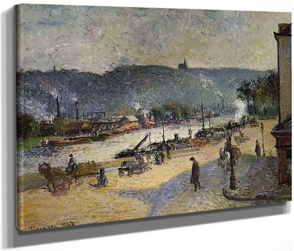 The Quays At Rouen By Camille Pissarro By Camille Pissarro