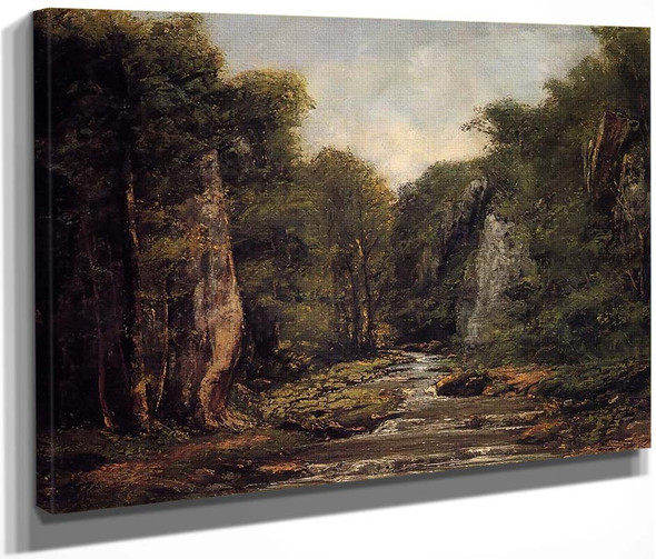 The River Plaisir Fontaine By Gustave Courbet By Gustave Courbet