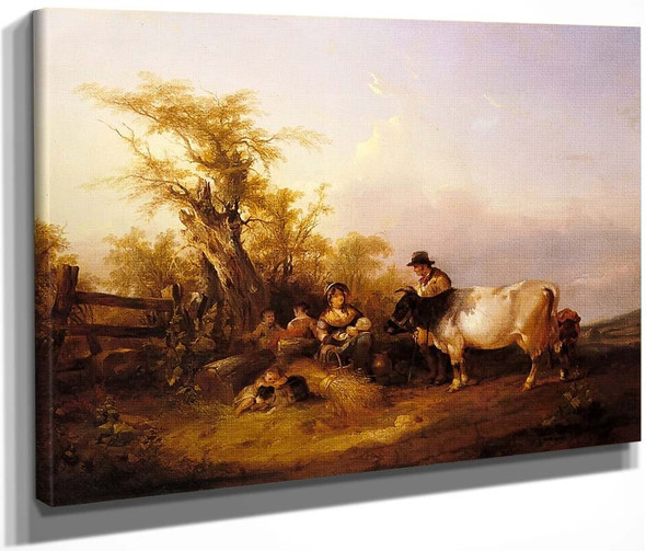 The Road To Market By William Shayer Snr