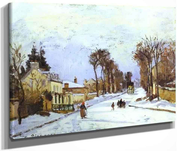 The Road To Versailles At Louveciennes By Camille Pissarro By Camille Pissarro