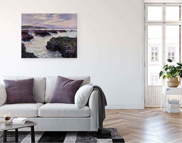 The Rocks At Pourville, Low Tide By Claude Oscar Monet