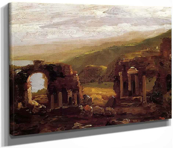 The Ruins Of Taormina By Thomas Cole By Thomas Cole