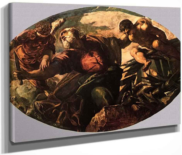 The Sacrifice Of Isaac By Jacopo Tintoretto