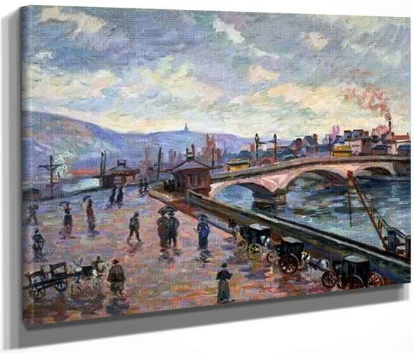 The Seine At Rouen By Armand Guillaumin