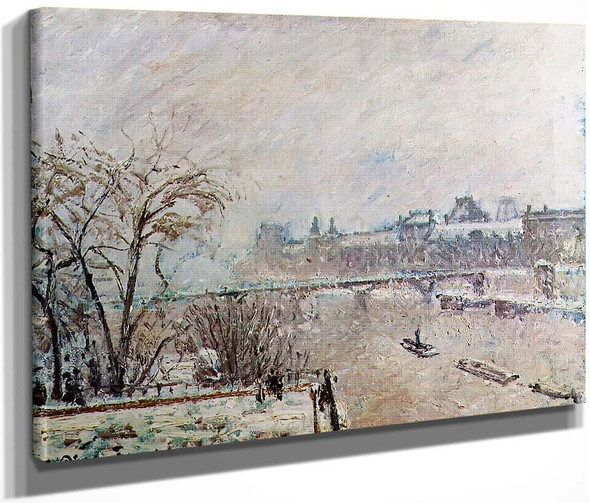 The Seine Viewed From The Pont Neuf, Winter By Camille Pissarro By Camille Pissarro
