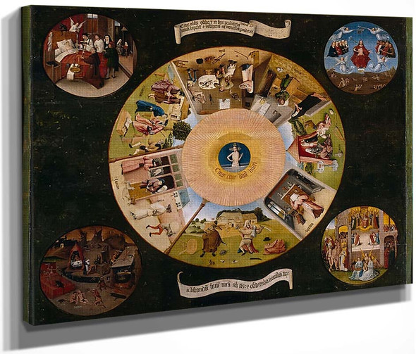 The Seven Major Sins By Hieronymus Bosch
