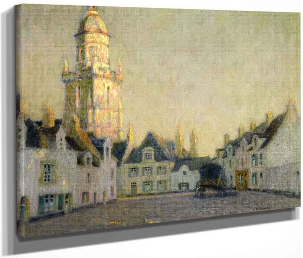 The Square, Le Croisic By Henri Le Sidaner By Henri Le Sidaner