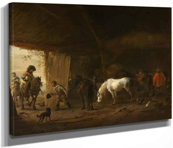 The Stable With The Grey Horse By Philips Wouwerman Dutch 1619 1668
