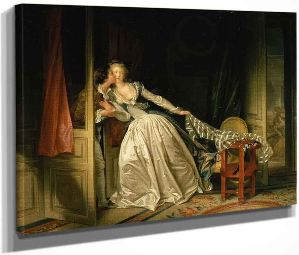 The Stolen Kiss 1 By Jean Honore Fragonard  By Jean Honore Fragonard