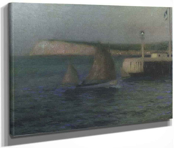 The Treport Jetty By Henri Le Sidaner By Henri Le Sidaner