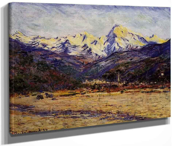 The Valley Of The Nervia By Claude Oscar Monet