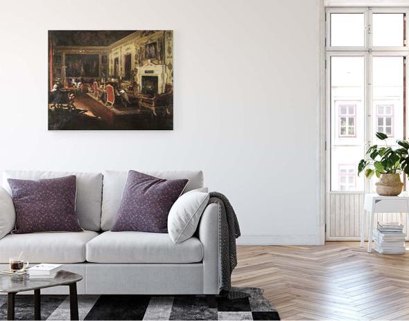 The Van Dyck Room, Wilton By Constantin Alexeevich Korovin By Constantin Alexeevich Korovin