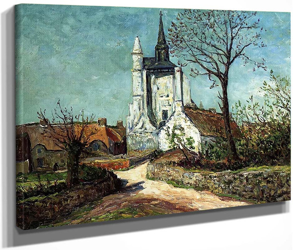 The Village And Chapel Of Sainte Avoye By Maxime Maufra By Maxime Maufra