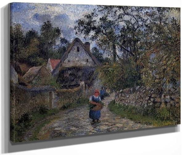 The Village Path By Camille Pissarro By Camille Pissarro