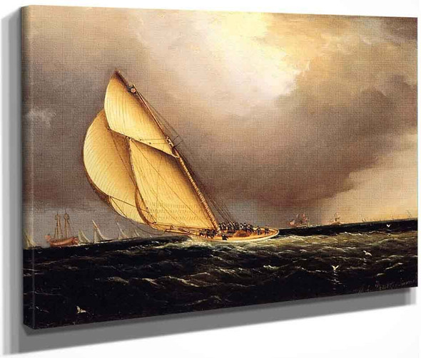 The Volunteer Taking The Lead Around The Lightship Sandy Hook By James E. Buttersworth By James E. Buttersworth