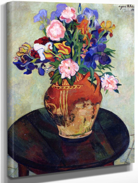 Bouquet Of Flowers On A Table By Suzanne Valadon