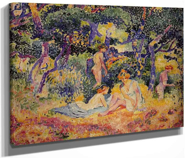 The Woods By Henri Edmond Cross By Henri Edmond Cross