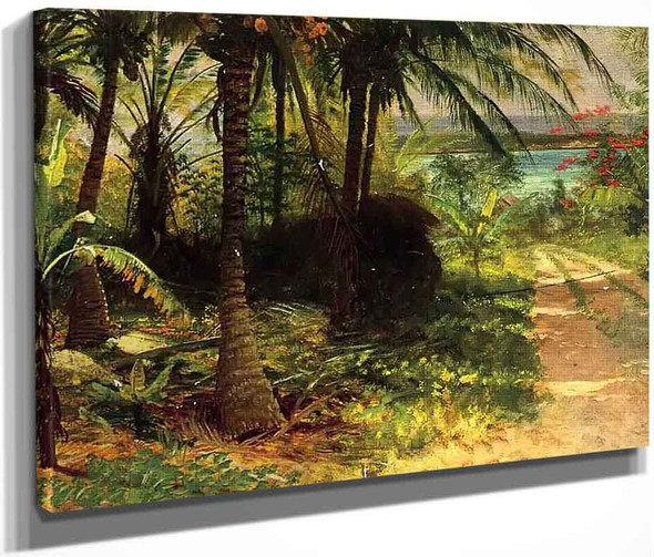 Tropical Landscape By Albert Bierstadt By Albert Bierstadt
