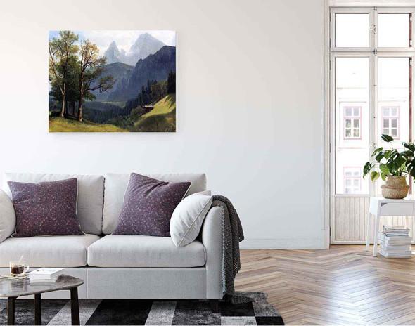 Tyrolean Landscape By Albert Bierstadt By Albert Bierstadt