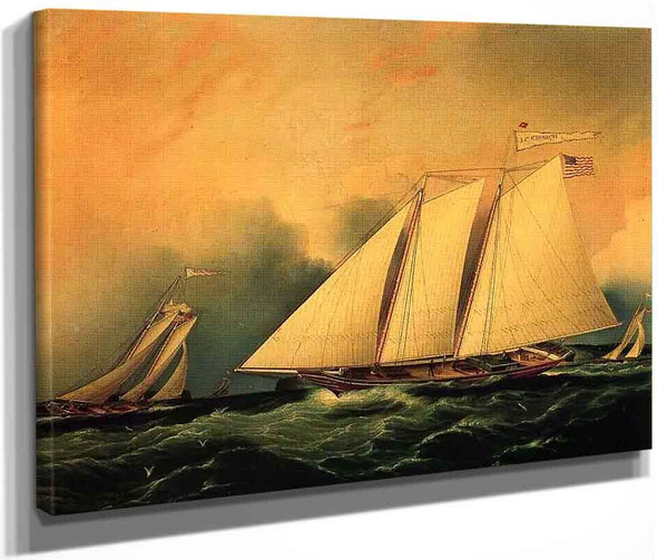 Under Full Sail By James E. Buttersworth By James E. Buttersworth