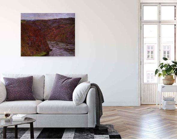 Valley Of The Creuse, Grey Sky By Claude Oscar Monet