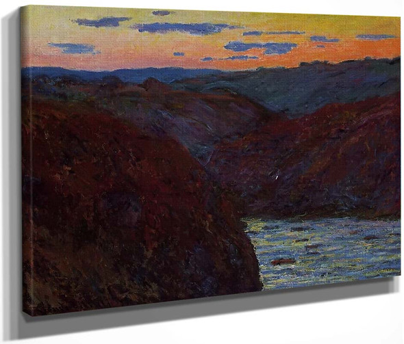 Valley Of The Creuse, Sunset1 By Claude Oscar Monet