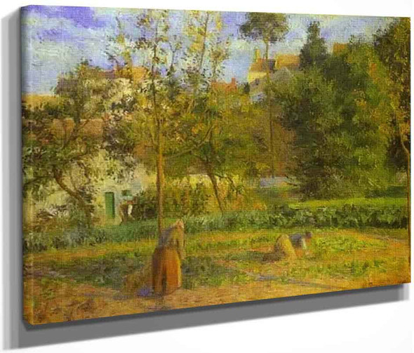 Vegetable Garden At L'hermitage Near Pontoise By Camille Pissarro By Camille Pissarro