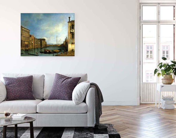 Venice The Grand Canal From The Campo San Vio By Canaletto By Canaletto