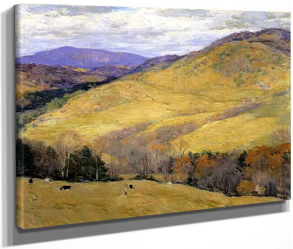 Vermont Hills, November By Willard Leroy Metcalf By Willard Leroy Metcalf