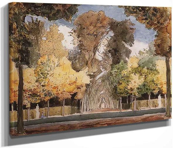 Versailles Park In Autumn By Konstantin Somov