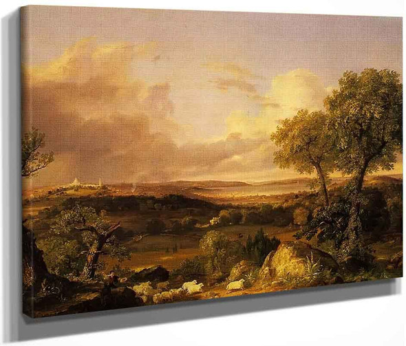 View Of Boston By Thomas Cole By Thomas Cole