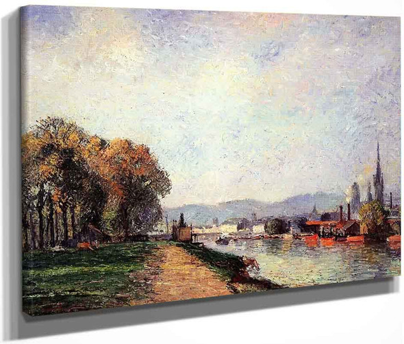 View Of Rouen By Camille Pissarro By Camille Pissarro