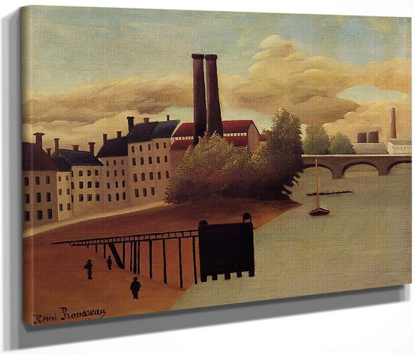 View Of The Outskirts Of Paris By Henri Rousseau