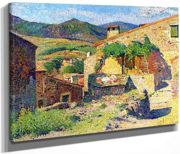 Village Dans Le Lot Rue Ensoleille By Henri Martin By Henri Martin