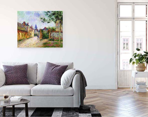 Village Scene By Gustave Loiseau By Gustave Loiseau