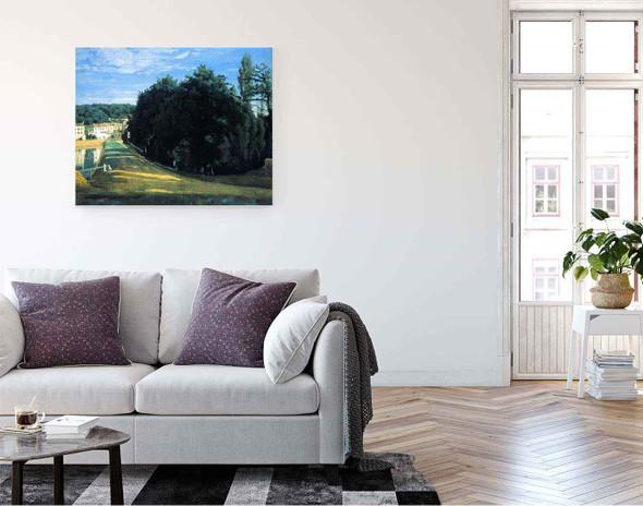 Ville Davray The Chemin De Corot By Jean Baptiste Camille Corot By Jean Baptiste Camille Corot
