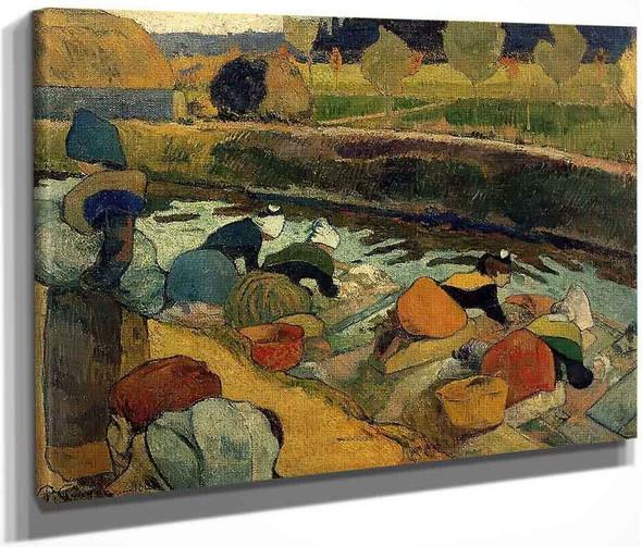 Washerwomen At The Roubine Du Roi. Arles By Paul Gauguin  By Paul Gauguin