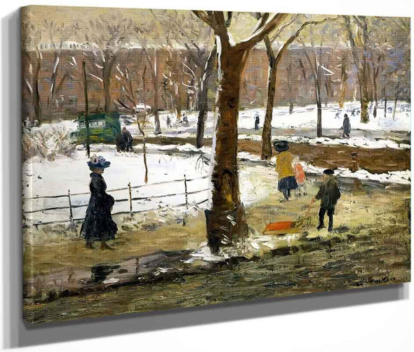 Washington Square, Winter  By William James Glackens  By William James Glackens