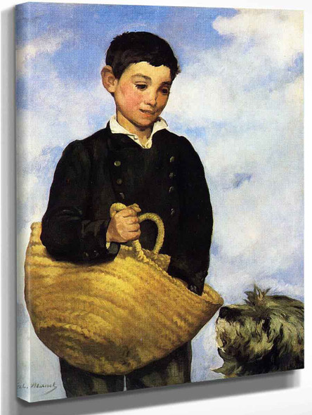 Boy With Dog By Edouard Manet By Edouard Manet
