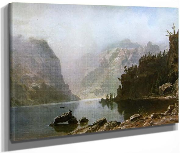 Western Landscape 2 By Albert Bierstadt By Albert Bierstadt